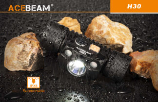 AceBeam H30 Red and Green Light 4000 lumen Rechargeable Headlamp-15142