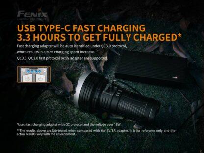 Fenix LR40R Rechargeable Searchlight (12000 lumens)-15237
