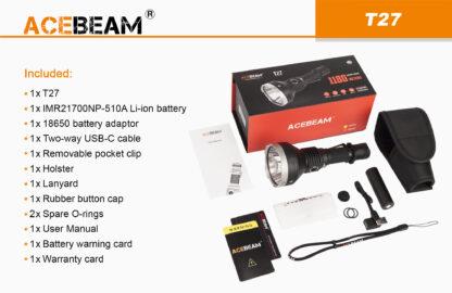 AceBeam T27 2500 Lumen Rechargeable Flashlight-15180