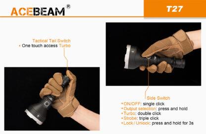 AceBeam T27 2500 Lumen Rechargeable Flashlight-15175