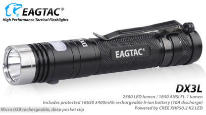 Eagletac DX3L 2500 Lumen Micro-USB Rechargeable Flashlight-15332