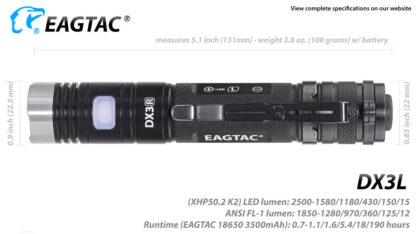 Eagletac DX3L 2500 Lumen Micro-USB Rechargeable Flashlight-15327