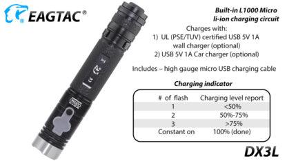 Eagletac DX3L 2500 Lumen Micro-USB Rechargeable Flashlight-15331
