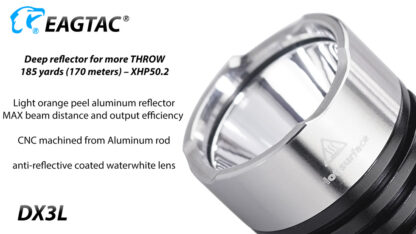Eagletac DX3L 2500 Lumen Micro-USB Rechargeable Flashlight-15334