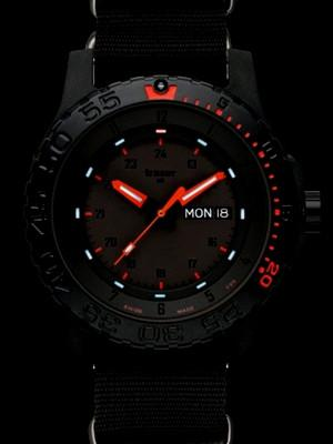Traser P66 Red Combat Watch with NATO Band-15670