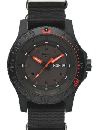 Traser P66 Red Combat Watch with NATO Band-0