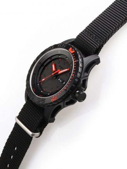 Traser P66 Red Combat Watch with NATO Band-15671