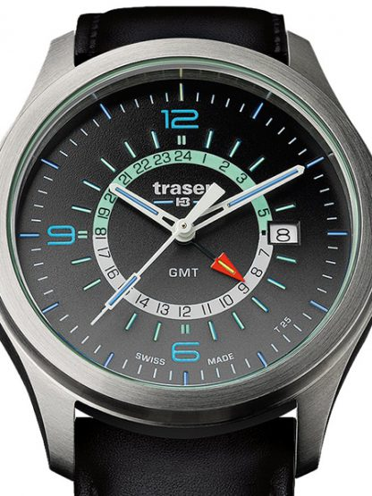 Traser P59 Aurora GMT Anthracite Watch with Leather Band-15666