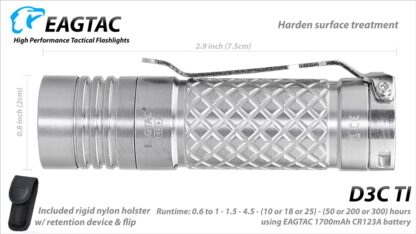 Eagletac D3C Clicky Ti - 800 Lumens-15468