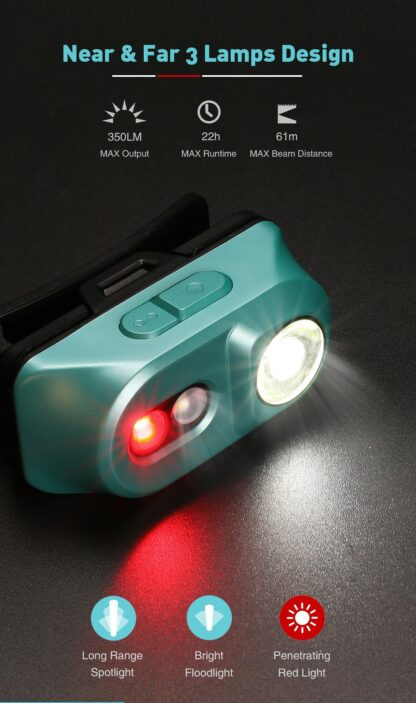 Klarus H1A-PL Lightweight LED Headlamp - 350 Lumens - Ocean Teal-15536