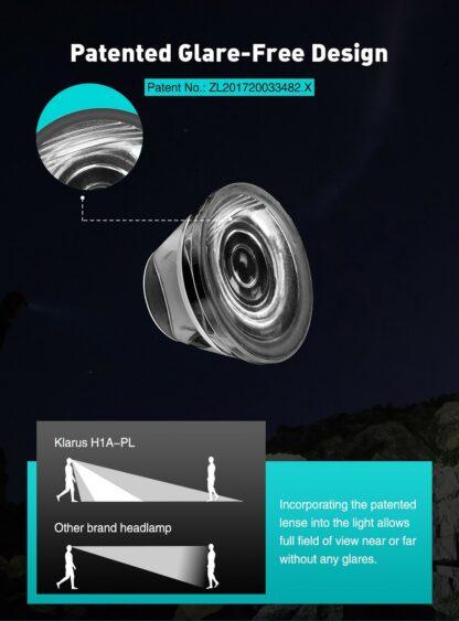 Klarus H1A-PL Lightweight LED Headlamp - 350 Lumens - Ocean Teal-15529