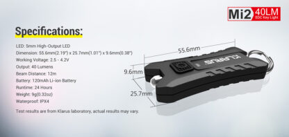 Klarus Mi2 USB Keychain Light-15482