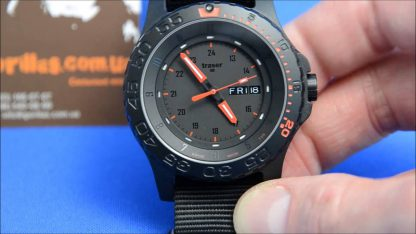 Traser P66 Red Combat Watch with NATO Band-15676