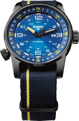Traser P68 Pathfinder Automatic Blue Watch with NATO Band-0