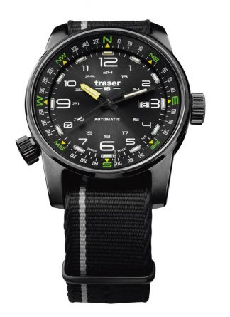 Traser P68 Pathfinder Automatic Black Watch with NATO Band-0