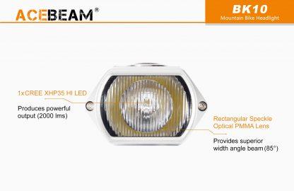 Acebeam 2000 lumen Bike Helmet Light-15936