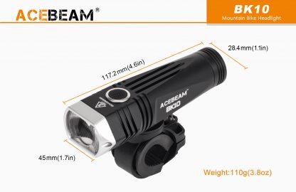 Acebeam 2000 lumen Bike Helmet Light-15942