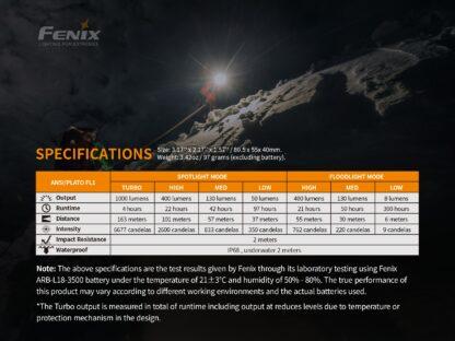 Fenix HM65R Rechargeable Headlamp - 1400 Lumens-15734