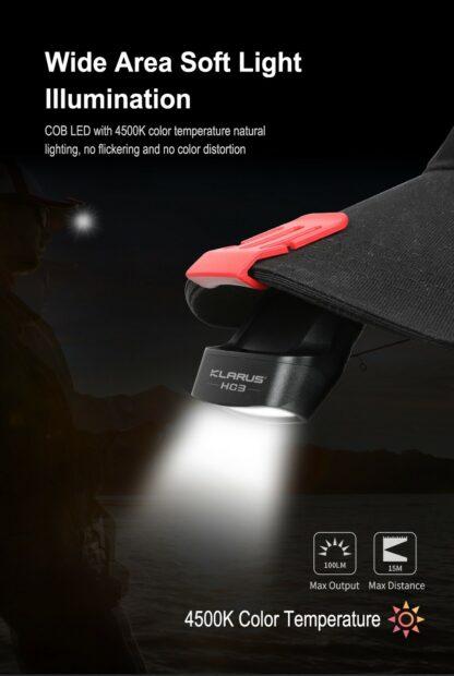 Klarus HC3 Visor Clip Motion-Sensing Headlamp-15761