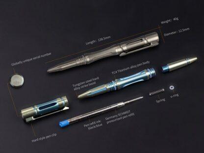 Fenix Halberd T5Ti Titanium Tactical Pen - Blue-15902