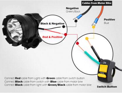 LED Motorcycle Headlight Kit 6000lm -16194