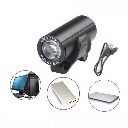 Prolite BF902 USB Rechargeable Waterproof Bike Light - 350 Lumens (Red)-16168
