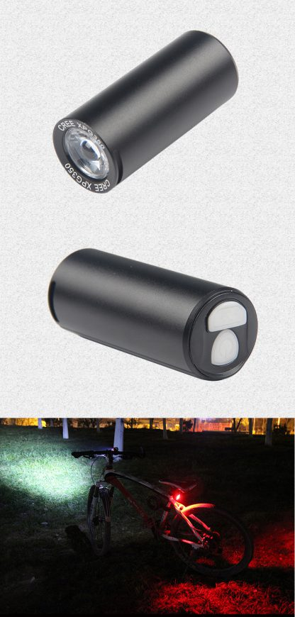 Prolite BF902 USB Rechargeable Waterproof Bike Light - 350 Lumens (Red)-16165