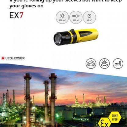 Ledlenser EX7 ATEX Intrinsically Safe Torch - 3AA-16060