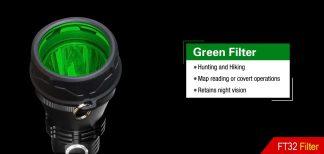Klarus FT32 GREEN filter (for 63.3mm bezel)-0