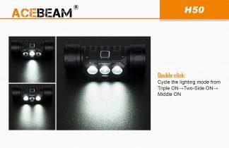 Acebeam H50 Rechargeable Headlamp - 2000 Lumens-16525