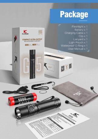 Klarus G15 Compact Rechargeable Flashlight - 4000 Lumens-16552