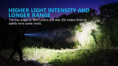 Olight M2R Pro Rechargeable Tactical Torch - 1800 Lumens -16713