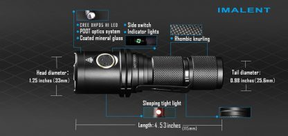 Imalent DM35 Rechargeable Torch - 2000 Lumens-17138