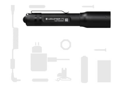 Led Lenser P3 Pocket Torch - 25 Lumens (1AAA)-16903