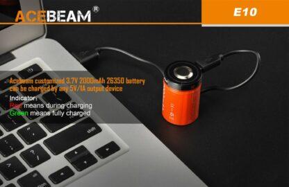 AceBeam E10 Rechargeable Mini Thrower - White LED (562m)-18126