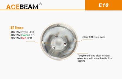 AceBeam E10 Rechargeable Mini Thrower - White LED (562m)-18122