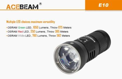 AceBeam E10 Rechargeable Mini Thrower - White LED (562m)-18128