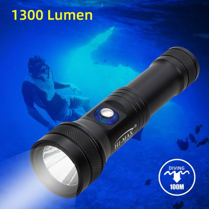 Hi-Max HD01 Rechargeable Dive Torch - 1300 Lumens (Red)-17313
