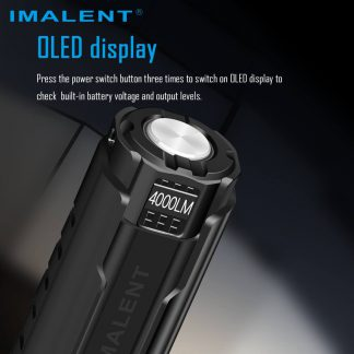 Imalent LD70 Compact Rechargeable Torch (Black)- 4000 Lumens-17426