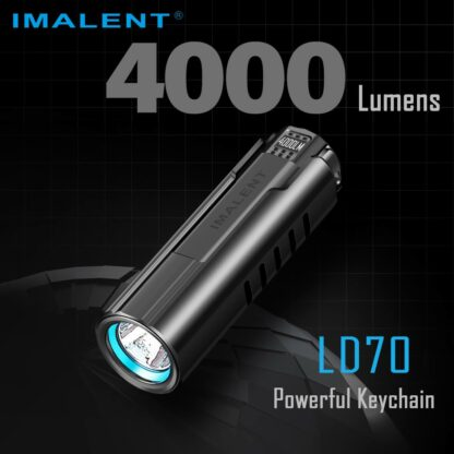 Imalent LD70 Compact Rechargeable Torch (Green)- 4000 Lumens-17549