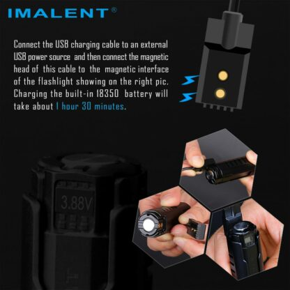 Imalent LD70 Compact Rechargeable Torch (Green)- 4000 Lumens-17545
