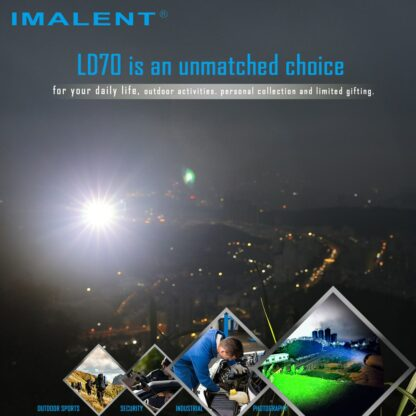 Imalent LD70 Compact Rechargeable Torch (Green)- 4000 Lumens-17548