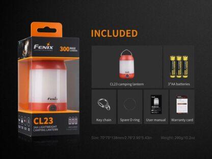 Fenix CL23 3AA Lantern - 300 Lumens - Red-17713