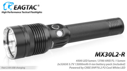 EagleTac MX30L2-R Rechargeable Security Torch (4500 Lumens)-17831