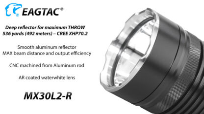 EagleTac MX30L2-R Rechargeable Security Torch (4500 Lumens)-17833