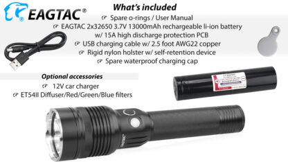 EagleTac MX30L2-R Rechargeable Security Torch (4500 Lumens)-17824