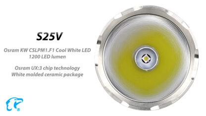 Eagletac S25V USB-C Rechargeable Flashlight - 660 Metres Throw -17732