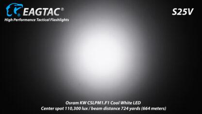 Eagletac S25V USB-C Rechargeable Flashlight - 660 Metres Throw -17737