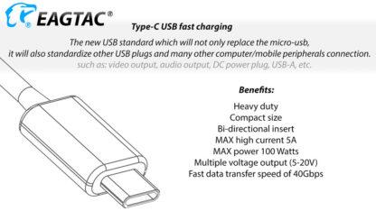 Eagletac S25V USB-C Rechargeable Flashlight - 660 Metres Throw -17730