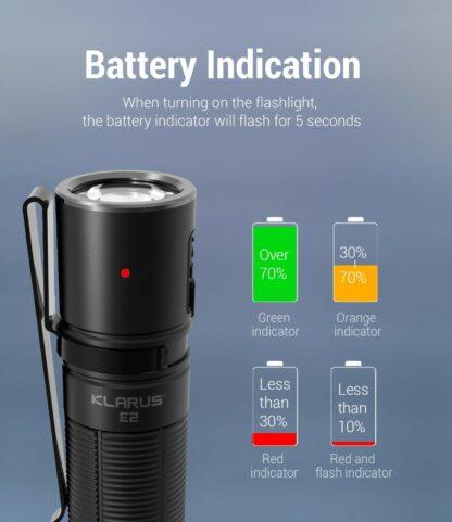 Klarus E2 Compact Rechargeable EDC Pocket Torch - 1600 Lumens-18155